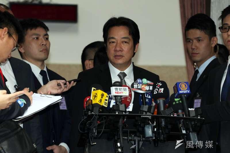 行政院長賴清德表示,電價目前沒有要漲價。(蘇仲泓攝)