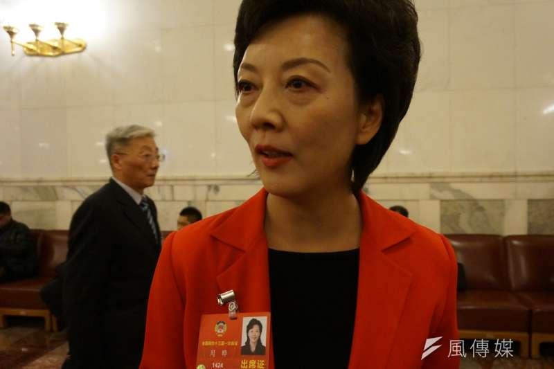 北京特教學校校長周曄,是習近平在去年中共十九大,歷時3個半小時的報告直播中,唯一的手語翻譯。(王彥喬攝)