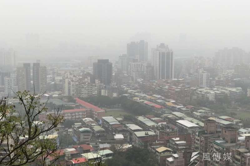 2018年3月3日,台灣北部空氣品質欠佳(呂紹煒攝)