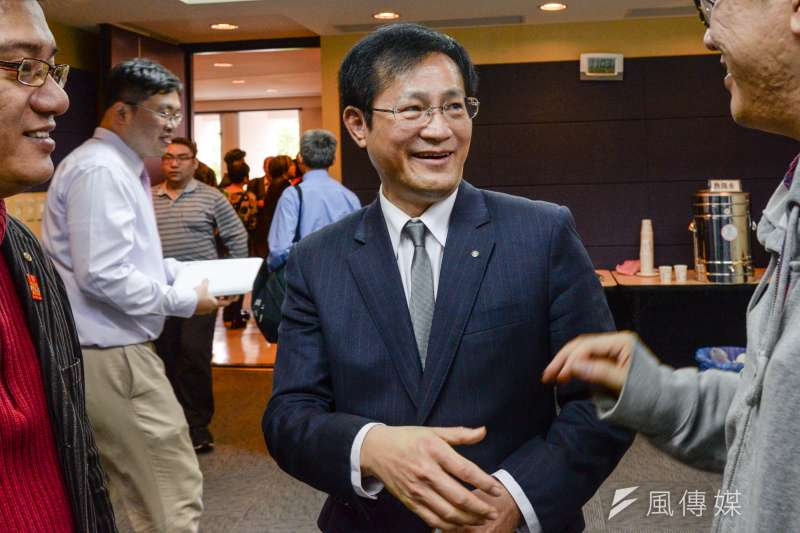 前台南縣長蘇煥智參選台北市長記者會,台北市議員周柏雅出席。(甘岱民攝)