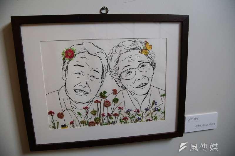 20180305-慰安婦專題,韓國大邱市,慰安婦歷史館內慰安婦阿嬤壓花作品。(顏麟宇攝)