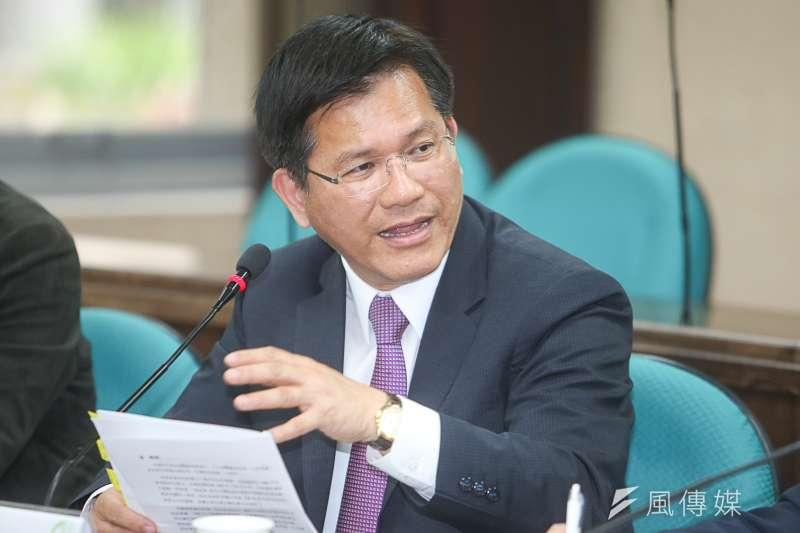 台中市長林佳龍,出席台研會30週年系列論壇「台灣主體性--從政治、歷史、文化、族群到兩岸關係的回顧與前瞻」。(陳明仁攝)