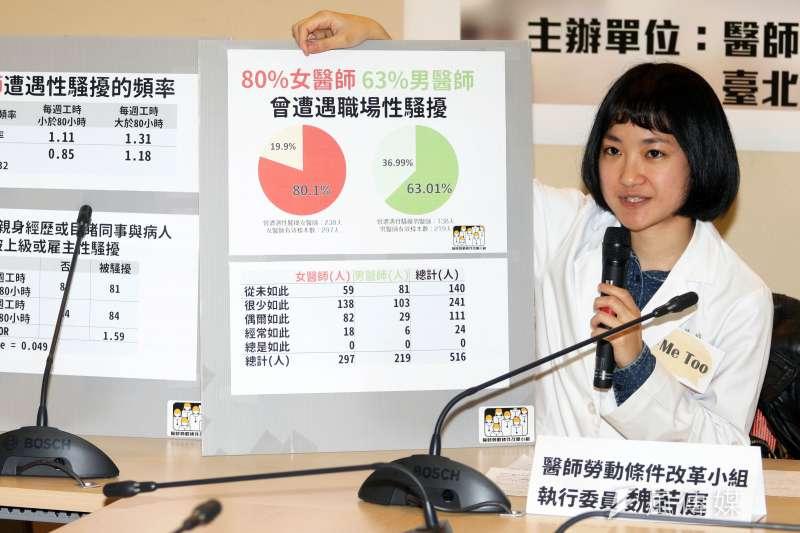 20180307-醫師勞動條件改革小組上午召開公布「醫師職場性別友善調查報告」記者會。(蘇仲泓攝)