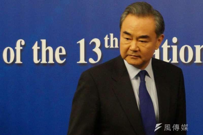 中國外交部長王毅表示,如果說中美之間有競爭的話,那也應該是良性和積極競爭,「中美可以有競爭,不必做對手,更需當夥伴」。(王彥喬攝)