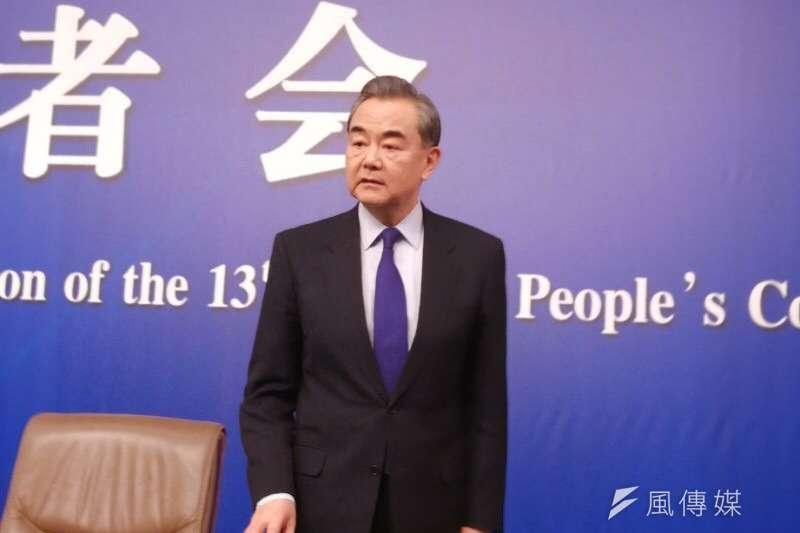 中國外交部長王毅提及,今年是《中日和平友好條約》締結40週年,40年前的條約,以法律形式確認了正確對待歷史、堅持一個中國等中日關係正常化時規定的各項政治原則。(王彥喬攝)