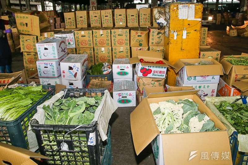 20180308-台北農產運銷公司連休風波,開市首日即景,蔬菜批發。(陳明仁攝)