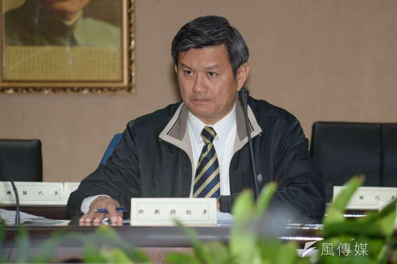 政治大學商學院助理教授許牧彥出席公投辯論。(資料照片,甘岱民攝)