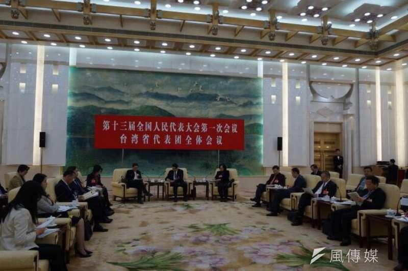陳雲英長期在中國大陸從事特教工作,被稱為「中國特殊教育第一人」,針對中國大陸於2月底釋出的31項惠台措施,陳雲英向全國人大長偉會提建議,「抓落實」是接下來的工作重點。(王彥喬攝)