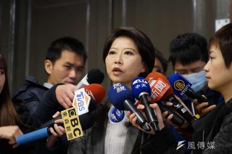 在民進黨台南市長初選位居第二的陳亭妃,21日有備而來,批評選對會在選舉時偏袒。(資料照片,盧逸峰攝)