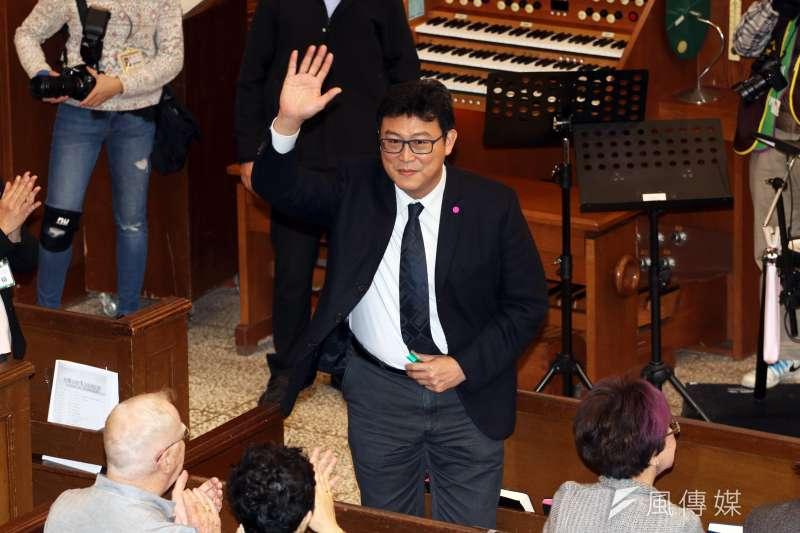 姚文智立下重誓,表示若代表民進黨參選台北市長,得票率卻是第三名,他永久退出政治。(資料照,蘇仲泓攝)