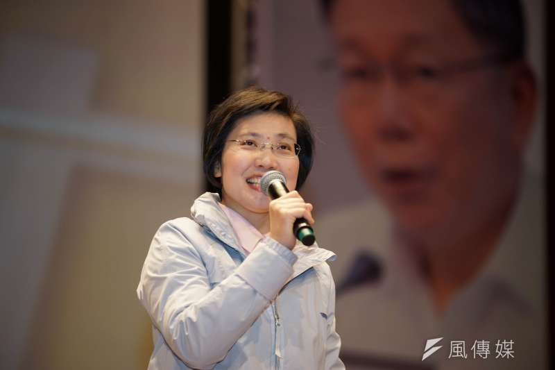 20180311-「城市新力量」座談會,民國黨主席徐欣瑩出席。(盧逸峰攝)