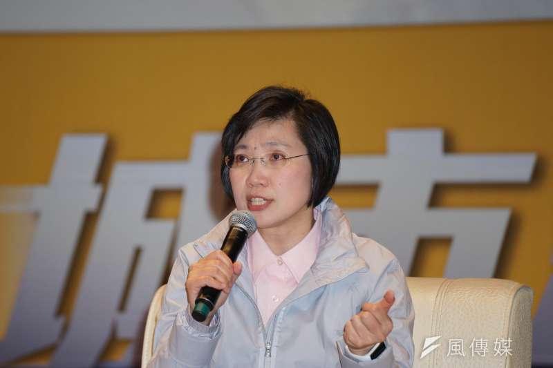 民調結果,加上反對票機制後,徐欣瑩(見圖)領先楊文科的差距略為擴大。(資料照,盧逸峰攝)