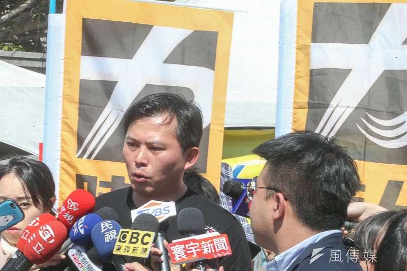 立委黃國昌,出席「面對核電代價,翻轉能源未來」311廢核大遊行。(陳明仁攝)