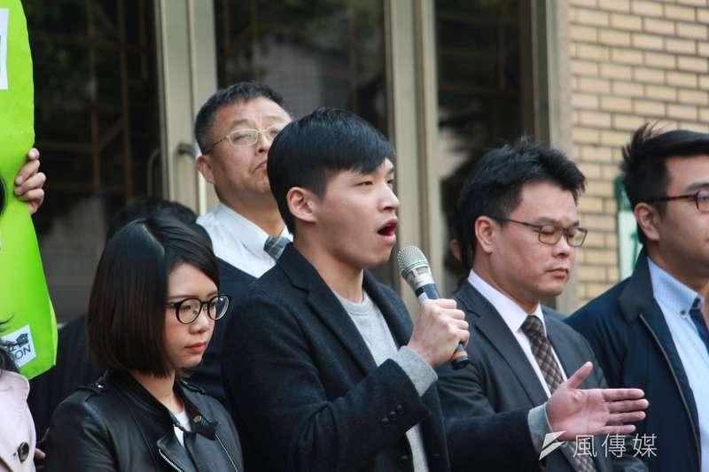 20180313-「318反黑箱服貿運動,佔領立法院案-二審宣判記者會」,陳為廷發言。(陳韡誌攝)