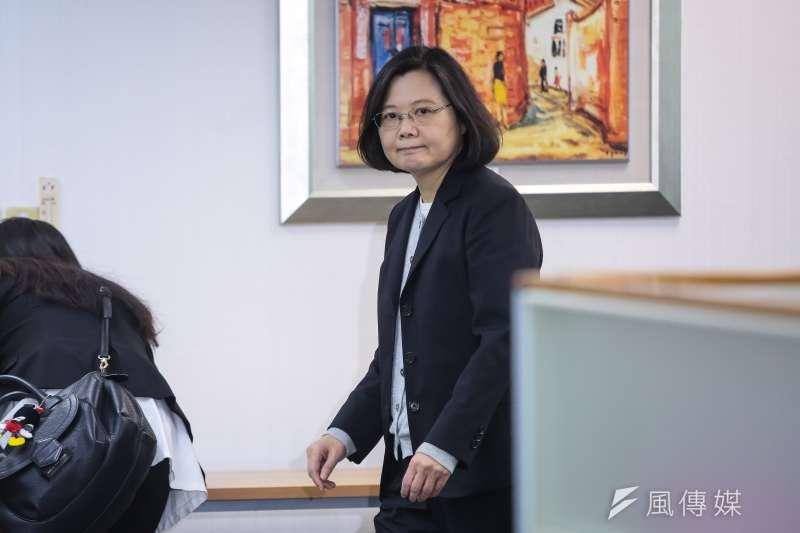 總統蔡英文坦言,台北市長選舉民進黨若推出自己的人選,恐怕會掉入第3名。(資料照,顏麟宇攝)
