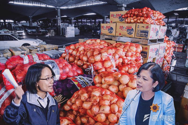 全國農會系統的立委張麗善(右),批評農委會推派北農總經理吳音寧(左),未負起菜價下跌責任。(資料照,陳明仁、方炳超攝/影像合成:風傳媒)
