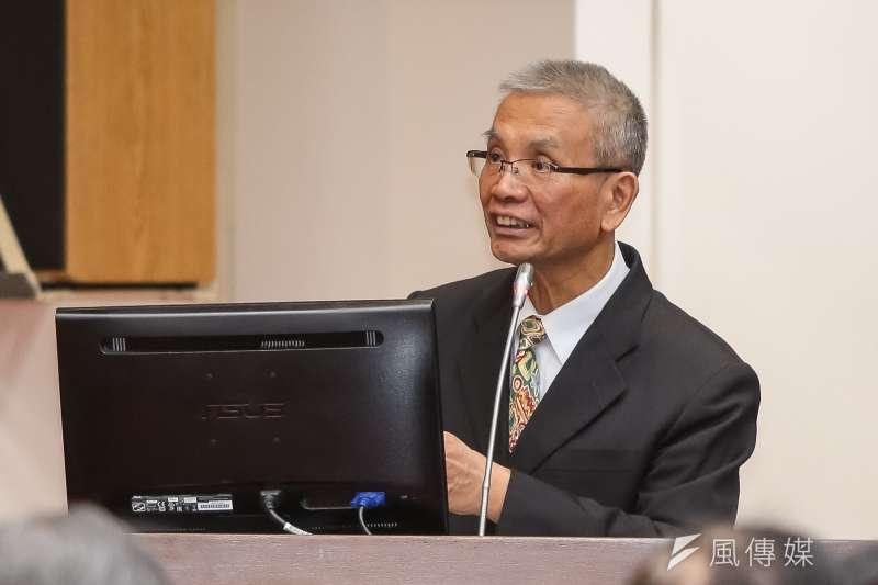 20180314-財政部長許虞哲14日於立院財政委員會備詢。(顏麟宇攝)