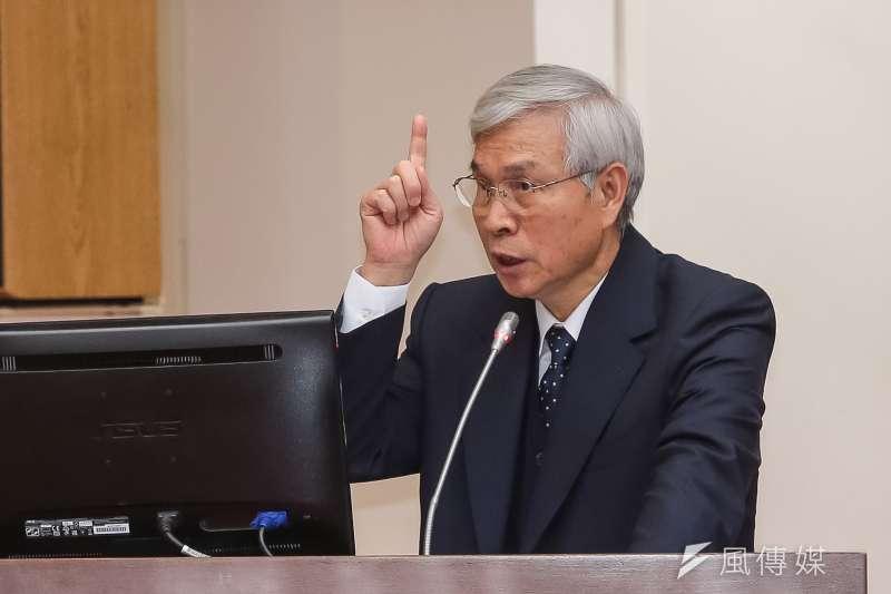 央行總裁楊金龍在立院委員會備詢。(顏麟宇攝)