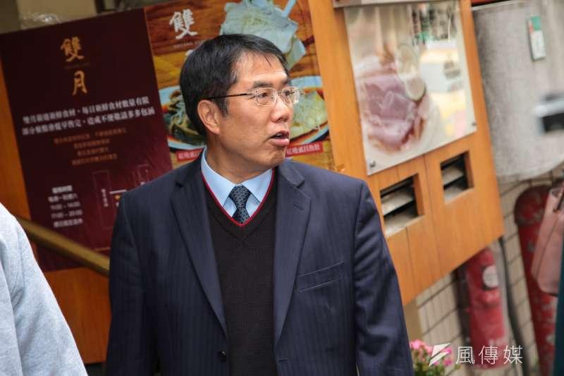 20180315-民進黨立委姚文智15日舉行「北南雙城美食會」,邀請已獲得提名參選台南市長的立委黃偉哲出席。(顏麟宇攝)