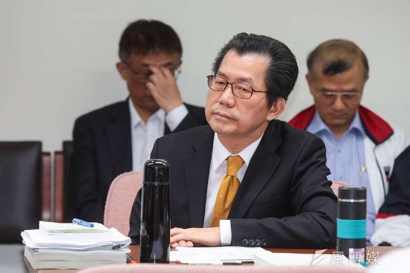 環保署長李應元15日出席立院衛環委員會。(顏麟宇攝)