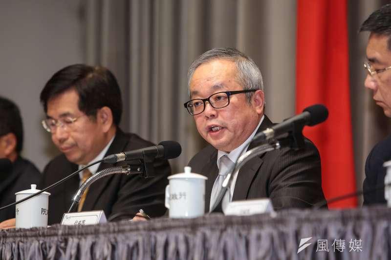 20180316-行政院副院長施俊吉16日針對大陸對台31項措施,召開因應對策記者會。(顏麟宇攝)
