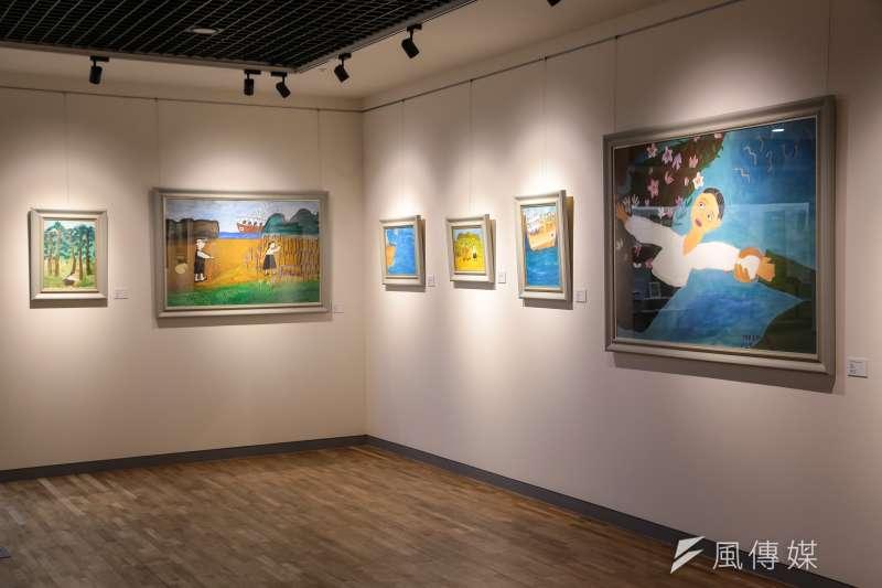 20180310-慰安婦專題,韓國京畿道廣州市,分享之家紀念館內畫作。(顏麟宇攝)