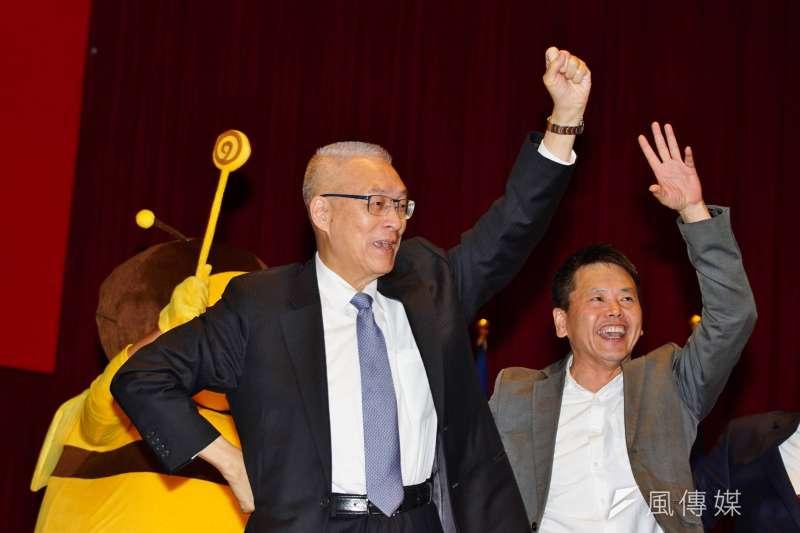 國民黨主席吳敦義看不出做為,基層發出另立共主之聲。(盧逸峰攝)
