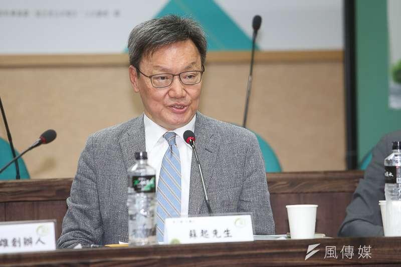 前國安會秘書長蘇起,出席台灣研究基金會舉辦論壇探討「台灣大戰略-全球政治經濟變局下台灣的生存與發展之路」。(陳明仁攝)