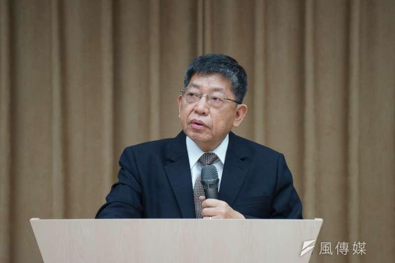 國防安全研究院執行長林正義回應軍中凱校問題。(資料照片,盧逸峰攝)