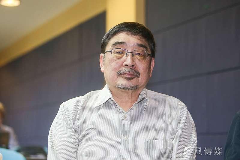 20180319-台灣民意基金會舉行「內閣改組、兩岸關係與總統聲望」全國性民調發表會,學者專家施正鋒。(陳明仁攝)