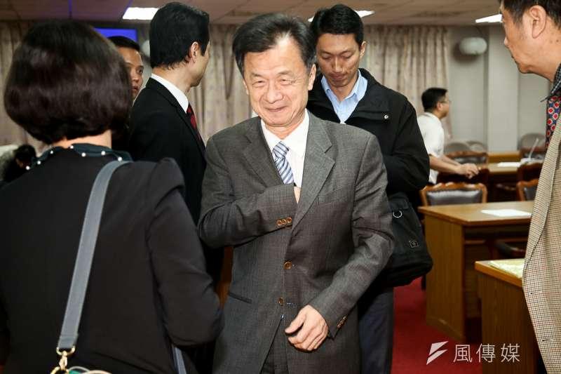法務部部長邱太三出席立法院委員會報告並備詢。(陳明仁攝)