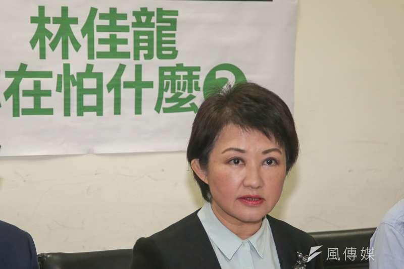 國民黨台中市長提名人盧秀燕被「假廣告」了。(陳明仁攝)