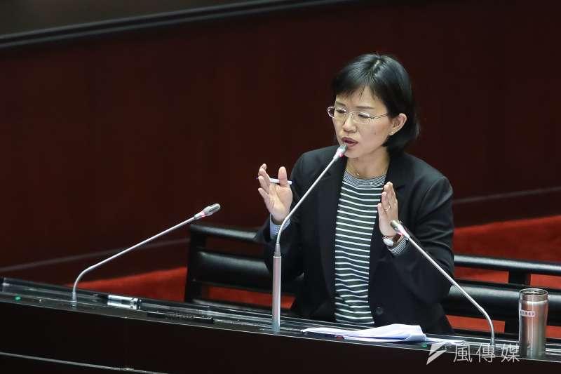 20180320-民進黨立委蘇巧慧20日於立院質詢。(顏麟宇攝)