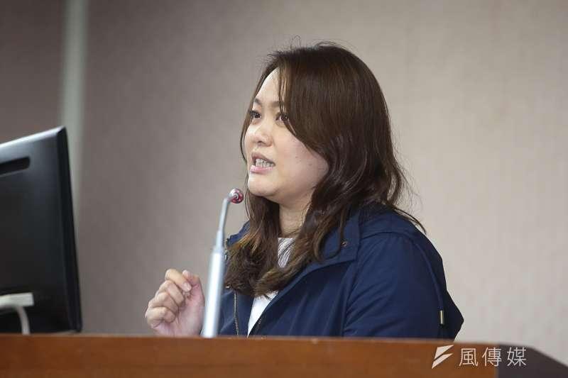 20180321-親民黨立委陳怡潔21日於立法院質詢。(陳明仁攝)