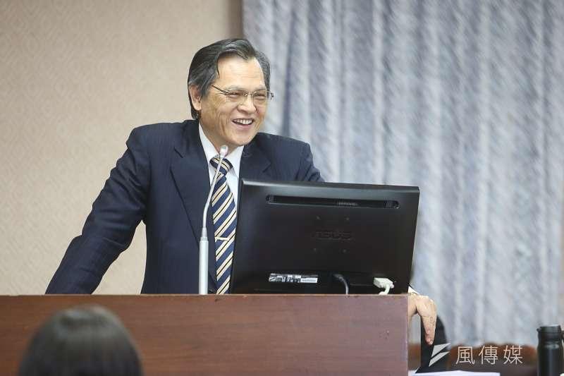 陸委會主委陳明通今21日首度接受立法院備詢。(陳明仁攝)