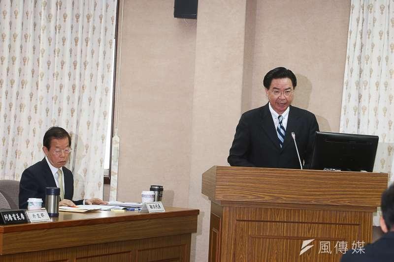 關於立委擔憂我國參加CPTTP將受到日方以核食作為籌碼,外交部長吳釗燮表示,不會被綁架,會堅守防線。(陳明仁攝)