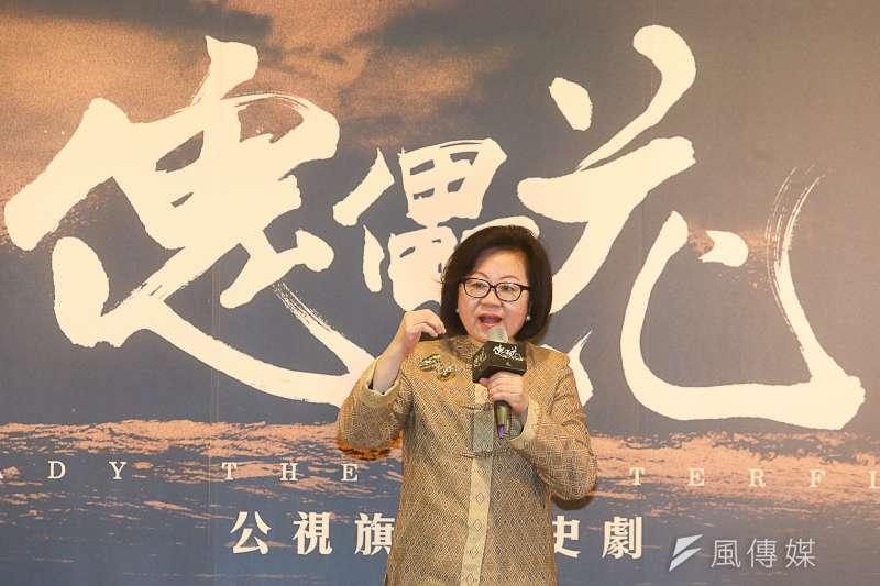 公廣集團董事長陳郁秀說,《傀儡花》的國際性非常完整,確實是可以躍上國際的。(陳明仁攝)