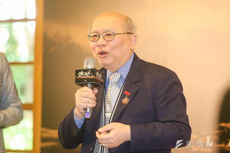 傀儡花原著作者陳耀昌,出席傀儡花節目製作發表會。(陳明仁攝)