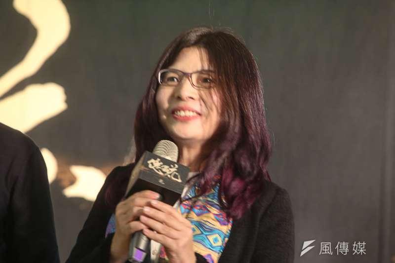 編劇施如芳,出席傀儡花節目製作發表會。(陳明仁攝)