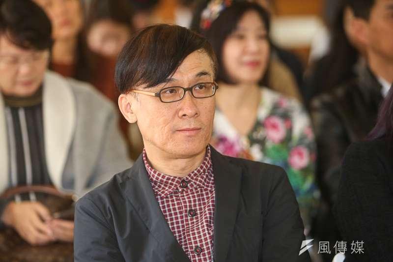編劇柯宗明,出席傀儡花節目製作發表會。(陳明仁攝)