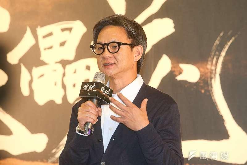 導演曹瑞原,出席傀儡花節目製作發表會。(陳明仁攝)