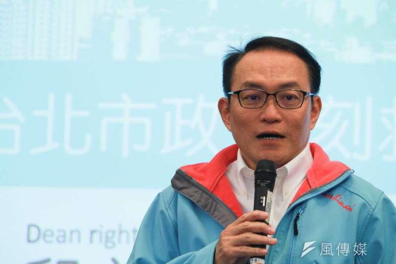 20180324-台北市前副市長邱文祥今(24)日下午舉行記者會,正式宣告參選台北市長。(方炳超攝)