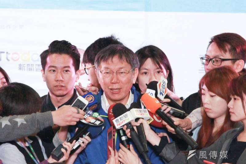 針對拆除架設10年的公投盟帳篷,台北市長柯文哲24日上午表示,他不需要討好任何人。(方炳超攝)