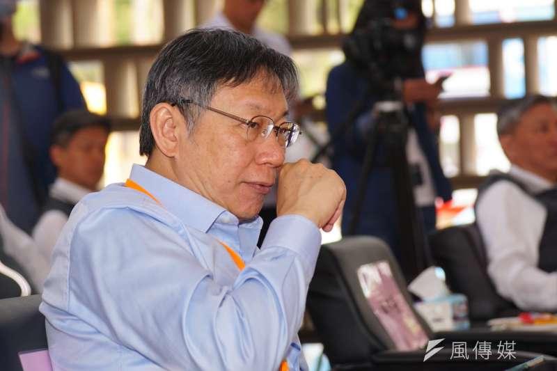 民進黨不提名台北市長候選人,現任市長柯文哲是當然獲益者。(盧逸峰攝)