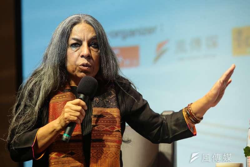 20180325-印度女權運動家烏爾瓦西‧布塔莉雅 (Urvashi Butalia)25日出席台北沙龍座談。(顏麟宇攝)