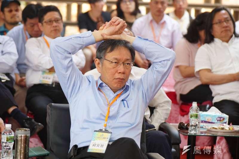 作者認為,阿扁就是柯P「墨綠」的頭號保證人,也是唯一的保證人。(資料照,盧逸峰攝)
