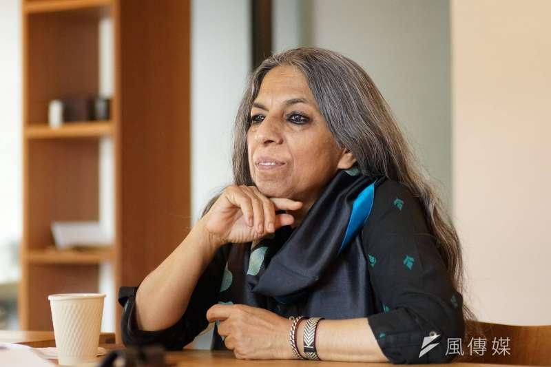 20180324-印度女權運動者烏爾瓦西.布塔莉雅(Urvashi Butalia)接受風傳媒專訪。(盧逸峰攝)