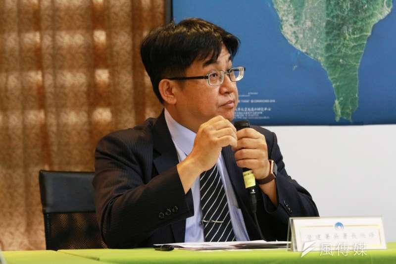 20180327-內政部召開「全國國土計畫草案通過」記者會,營建署長吳欣修出席。(陳韡誌攝)