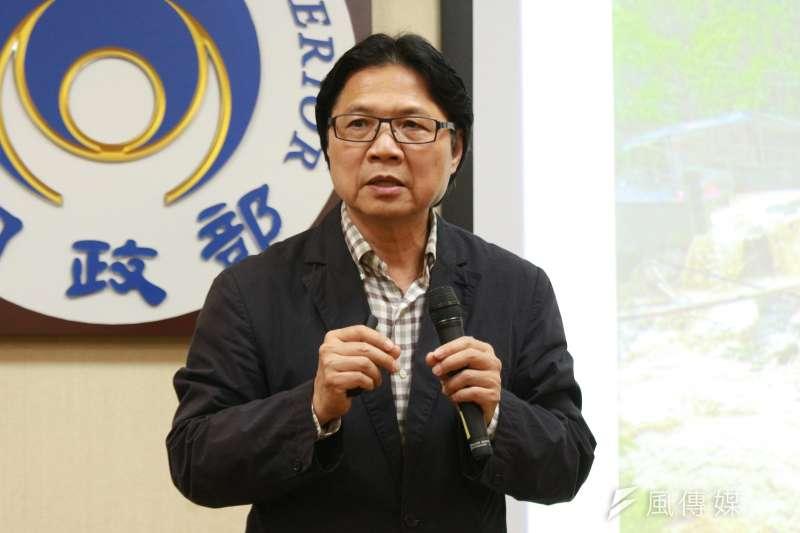 20180327-內政部召開「全國國土計畫草案通過」記者會,內政部長葉俊榮出席。(陳韡誌攝)