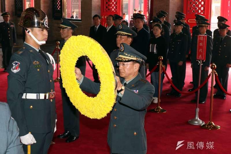 陸軍司令王信龍上將擔任烈士入祀典禮主祭。(蘇仲泓攝)